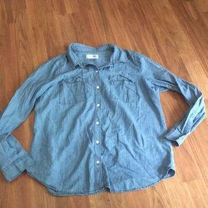 Old Navy Jean Shirt L